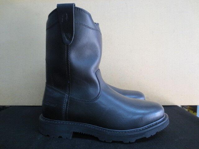 Men's 11  Lacrosse Black Station Slip On Leather Work Boot Size 11 Wide  911055