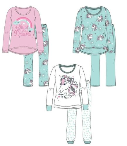 Girls Baby Toddler Children Unicorns Pyjama Pjs Set Age 2-8 years NEW 2018//19