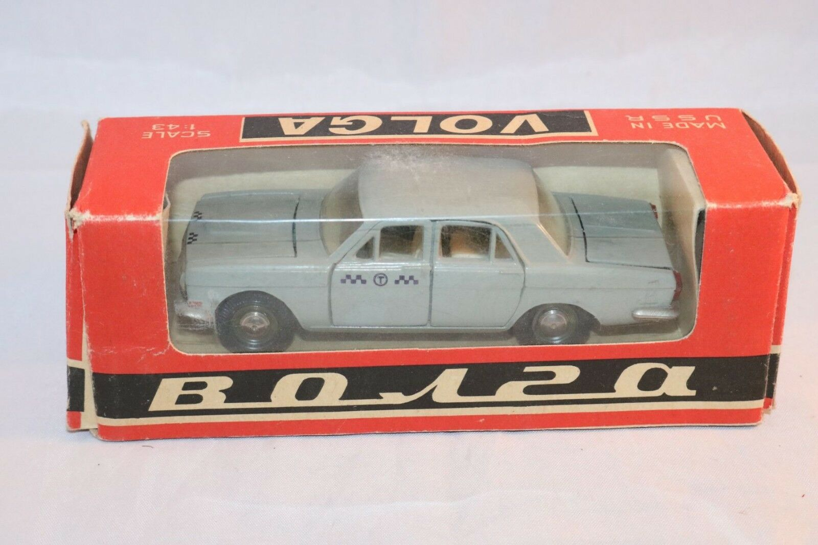 Volga Taksi GAZ CCCP A3-24 A3 24 Novoexport grigio menta nella casella 1 43 raro