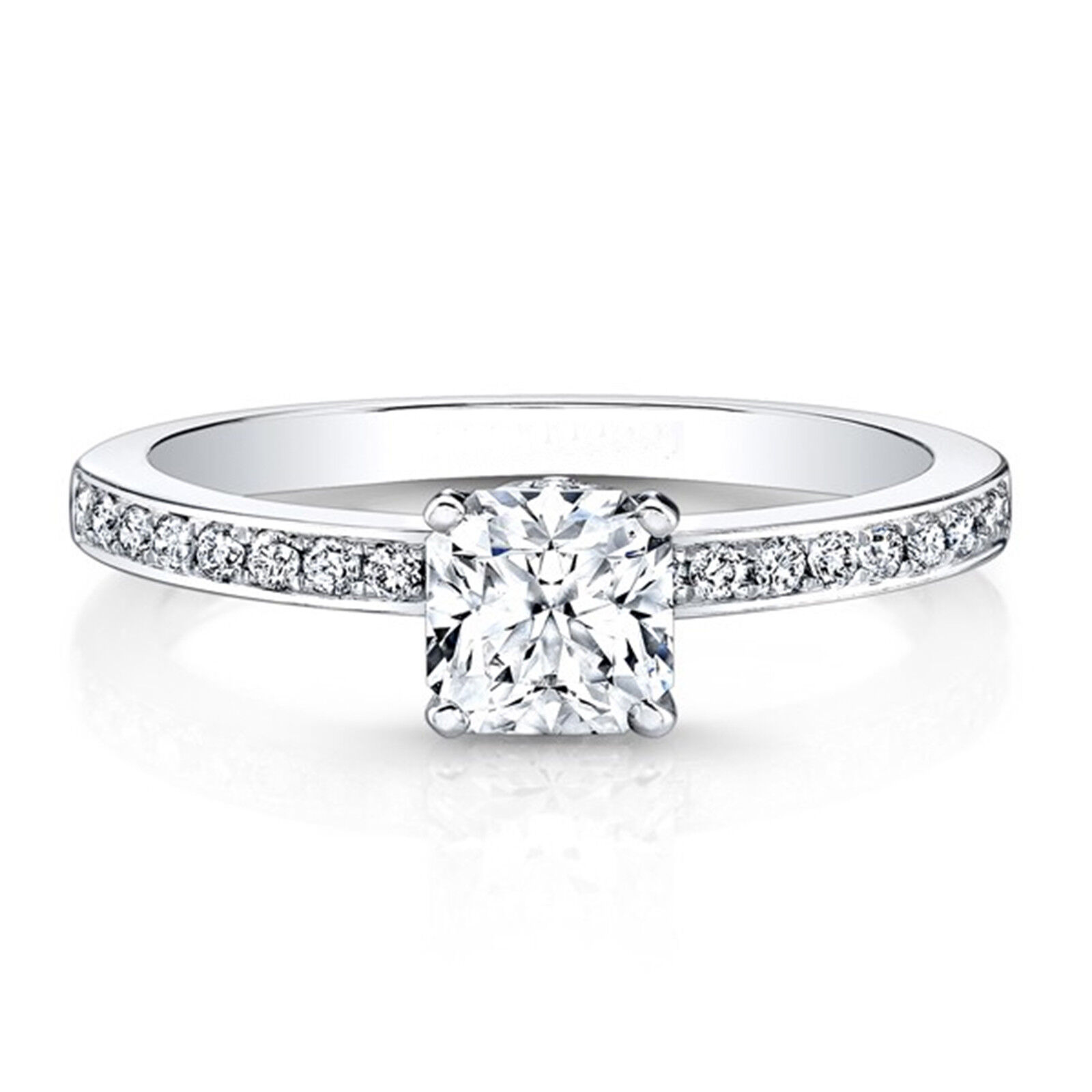 0.56 Carat Real Round Diamond Ring Solid 14K White gold Rings Size 5 9 8