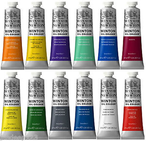 Winton-Oil-Paints-Winsor-amp-Newton-37ml-Tube-Artist-Art-47-Colours-Professional