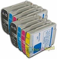 4 Sets of HP 10 & HP 11 XL Chipped Compatible Ink Cartridges Photosmart Printers