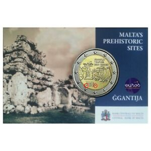 Coincard-piece-2-euros-MALTE-2016-Ggantija-Poincon-Monnaie-de-Paris-UNC