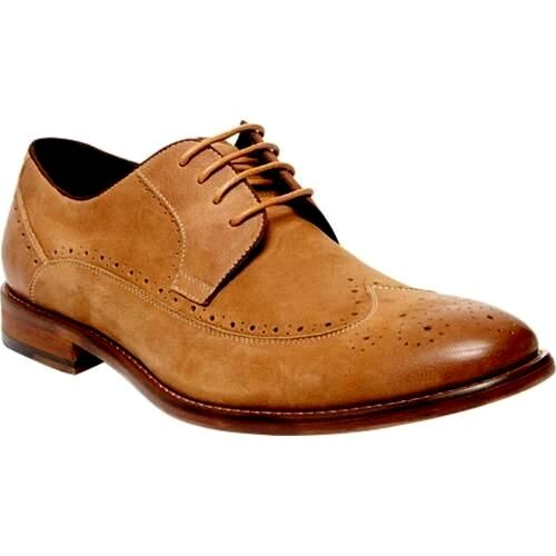 Steve Madden Kerman Men's Wing Tip Oxford Tan Nubuk shoes