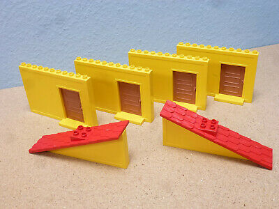 1 x Lego Duplo Dach Stein schräg 33° 4x4 rot Markise überhängend Puppen Haus Set