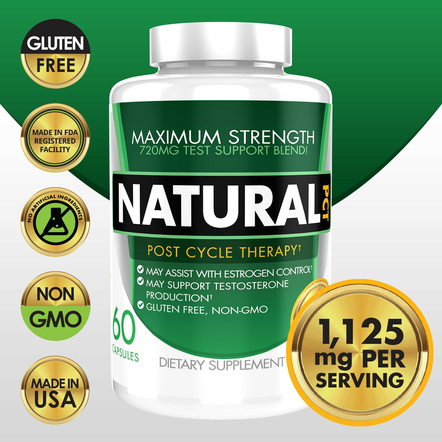Natural PCT Post Cycle Therapy Estrogen Blocker Testosterone Booster 1125mg eBay