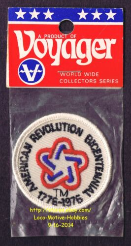 "LMH PATCH Badge  1776 1976 AMERICAN REVOLUTION  BICENTENNIAL Celebration Star 2/"""