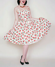 Bernie Dexter White & Red  Cherry Paris  Dress --  Plus Too  Size  XL   NWT