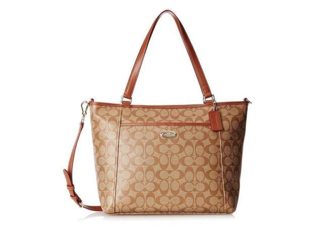 Nwt Coach Peyton Signature Pocket Tote Handbag Crossbody Bag Shoulder F33998