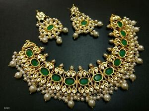 Indian-Traditional-Gold-Tone-Women-Pearl-Beads-Latest-Kundan-Necklace-Set