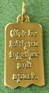James Avery Retired 14k God Be With Us Together And Apart Pendant