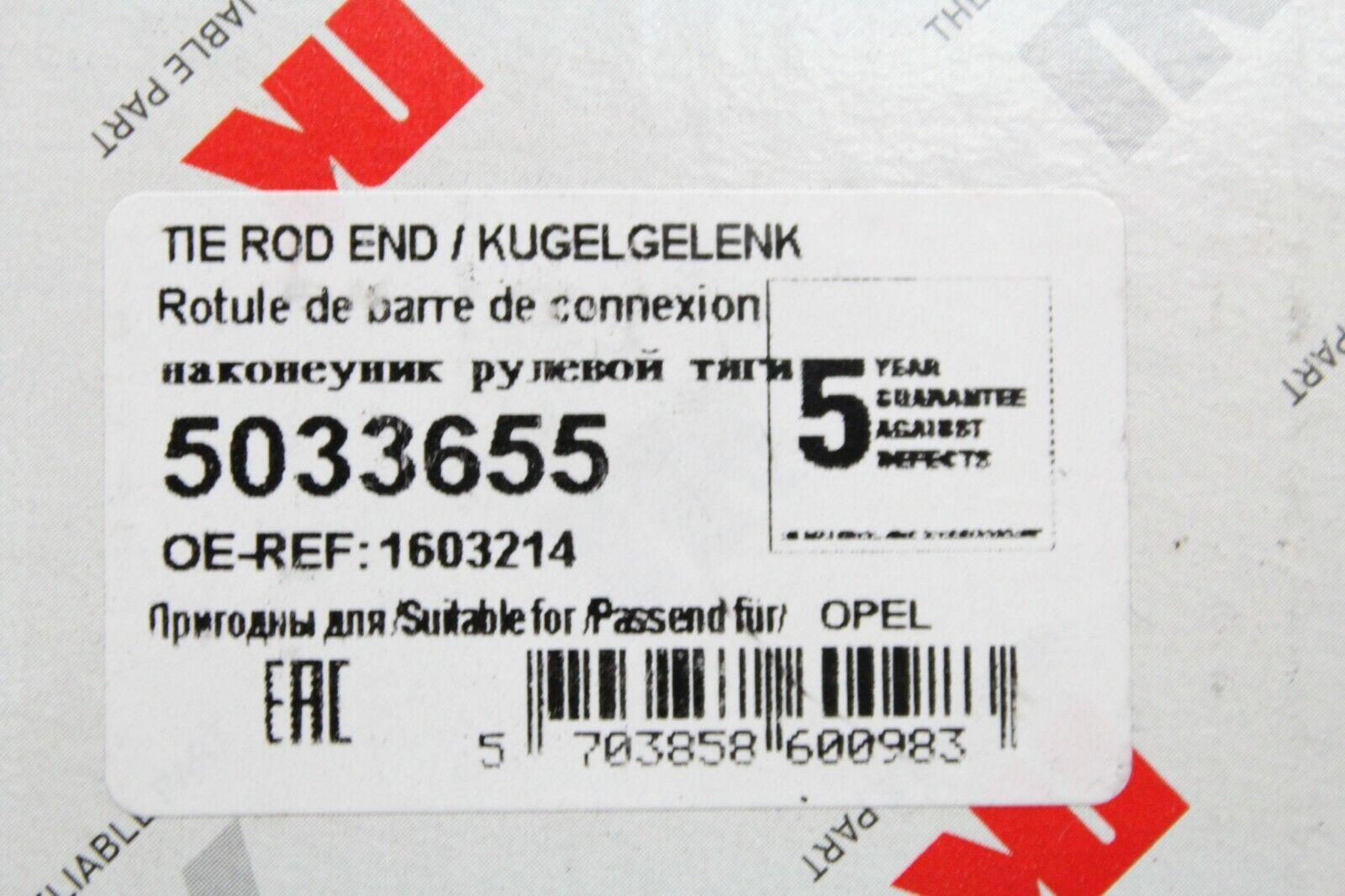 NK 5033655 Spurstangenkopf