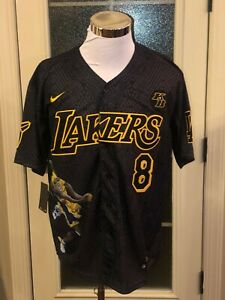 Los Angeles Lakers #8 #24 Kobe Bryant Black Mamba Cool Base Jersey ...