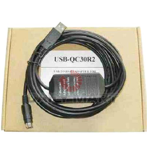 New Mitsubishi Interface Programming Cable USB-QC30R2 Connector Q Series PLC