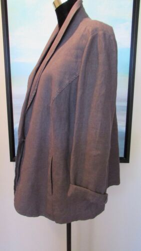 lino Eileen un bottone in Xl Fisher Woman color con unico irlandese Giacca Plus castano xAHUZq