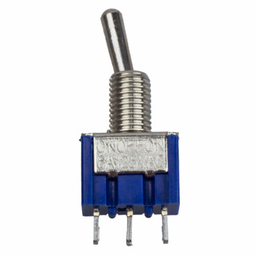4Pcs Blue AC 125V 6A 3 Pin SPDT On//Off//On 3 Position Mini Toggle Switch