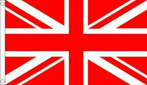 HUGE 8ft x 5ft Red and White Union Jack Flag Massive Giant Sports Football