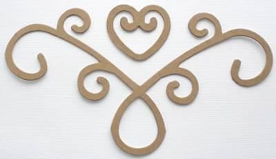 {10} *PRIMITIVE HEARTS* Raw Bare Chipboard Die Cuts