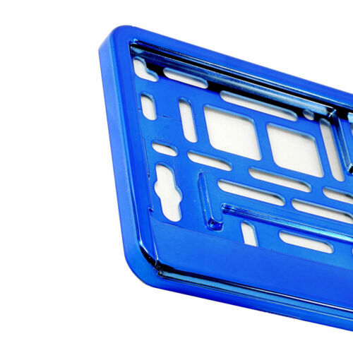 BLUE GLOSS Chrome targa auto Surround supporto per qualsiasi auto furgone M