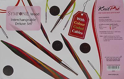 Stricknadeln aus Symfonie Holz 20613 KnitPro Deluxe Set Seilverbinder gratis