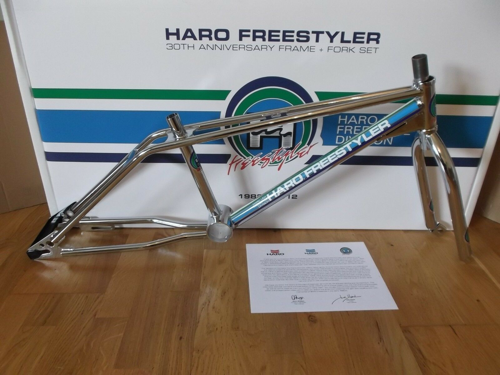 NEW HARO FREESTYLER GEN 1 FRAME SET IN BOX CHROME 2012 US MADE RE ISSUE