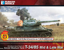 Rubicon Models Russian T34/85 Mid-Late War Tank 1/56 scale New!