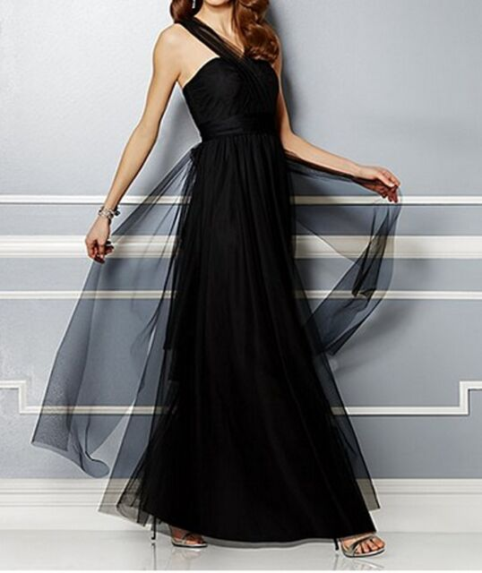 NWT EVA MENDES  BLACK WEDDING PARTY COLLECTION LACEY MAXI DRESS SIZE 12