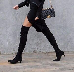 hauts à talons Us le bottes Black 8 39 talons Sold Us Eu hauts chaton à Sold sur Zara genou 80nmwvN