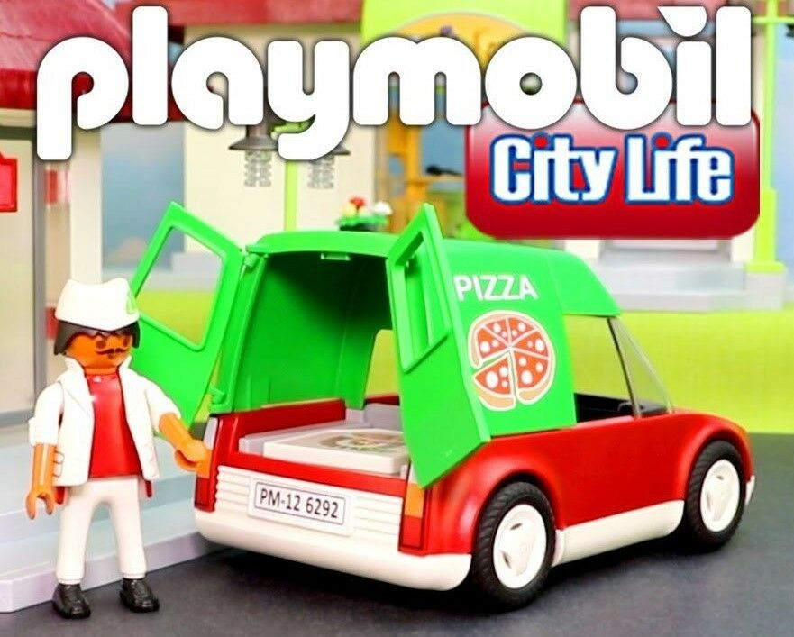 Playmobil 6292 Pizza Delivery  auto  Add-Ons  + GIFT (Pizza Baker 6392) nuovo IN borsa  negozio d'offerta
