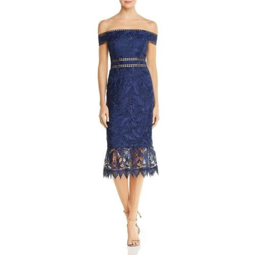 Aidan by Aidan Mattox Womens Lace Off-The-Shoulder Cocktail Dress BHFO 7888