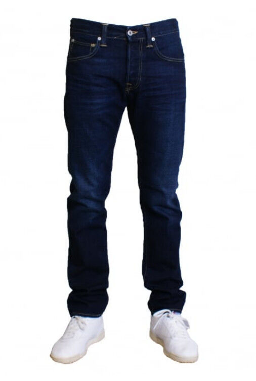 JEANS EDWIN MAN ED 55 REGULAR TAPERED (deep bluee-coal wash) W32 L34 VAL