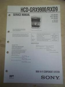 repair manual sony hcd rxd9 mini hi fi component system