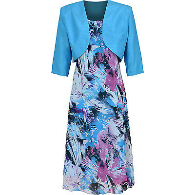 2 Piece Mother Of Bride Or Any Occassion Suit Dress And Jacket Set