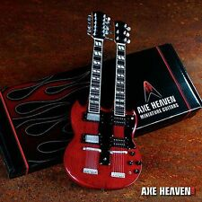Axe Heaven Classic 1971 Zeppelin Stained Double Neck Miniature Guitar AH-258