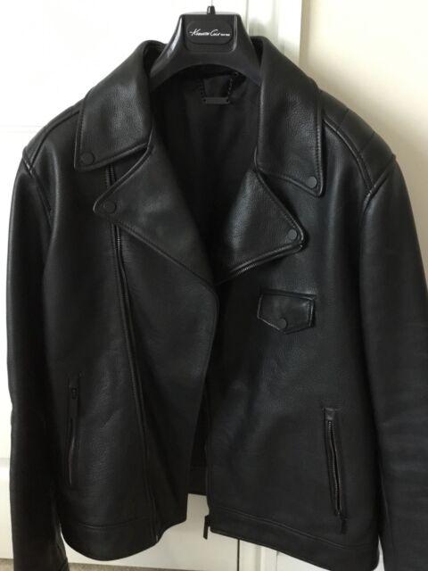 KENNETH COLE Men's Leather Biker Jacket Medium, Worn Twice