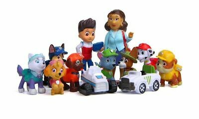 12 pc Set Paw Patrol Cake Toppers Action Figures Puppy Patrol Spielzeug Gift