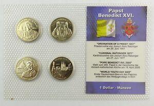 E7374 1 Dollar Münzen Aus Dem Jahr 2005 Republik Liberia Papst