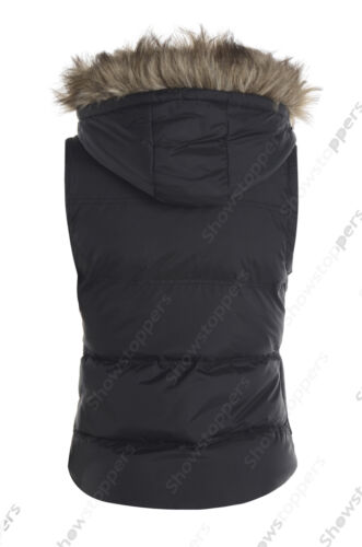 Size 6 8 10 12 14 Womens GILET BODYWARMER Ladies JACKET PADDED Hood Waistcoat