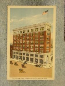 Vintage-Postcard-The-First-National-Bank-Building-Portsmouth-Ohio