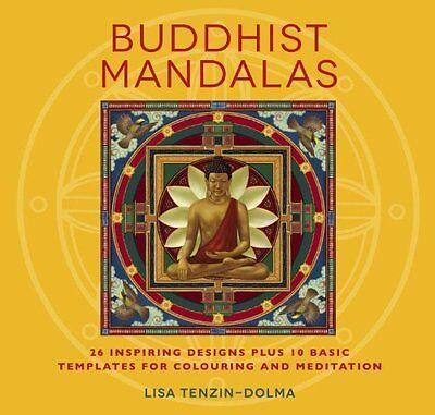 Buddhist Mandalas Adult Colouring Book Art Therapy Creative Mind Body Spirit NEW