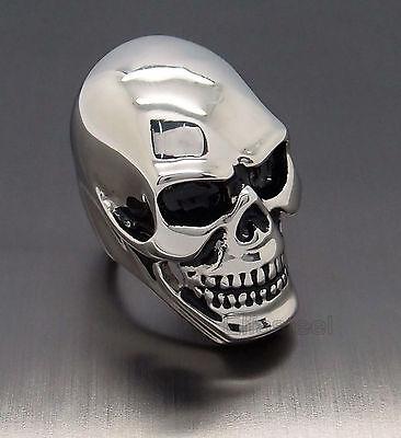 MENS Huge Heavy Skull 316L Stainless Steel Biker Ring US Size 7-14