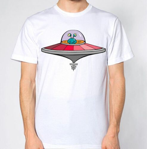 ALIEN SPACESHIP T SHIRT UFO HIPSTER HATE SWAG SPACE CARTOON FUNNY