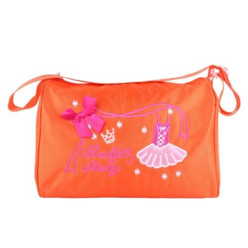 Girls Kids Ballet Dance Bags Handbag Tote Duffel Swim Shoulder Bag Embroidered
