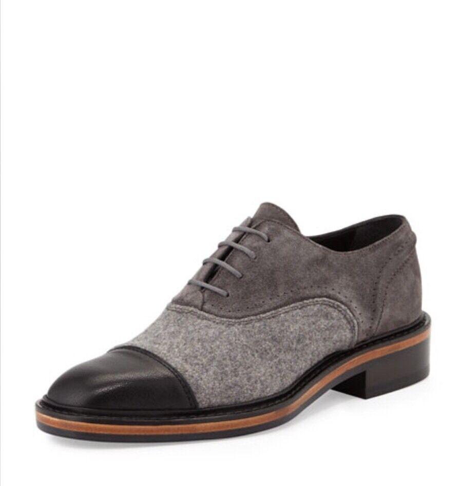 Lanvin Fieltro & Suede Negro gris con con con cordones Oxford Talla 38.5 8.5  995.00  vendido   mejor servicio