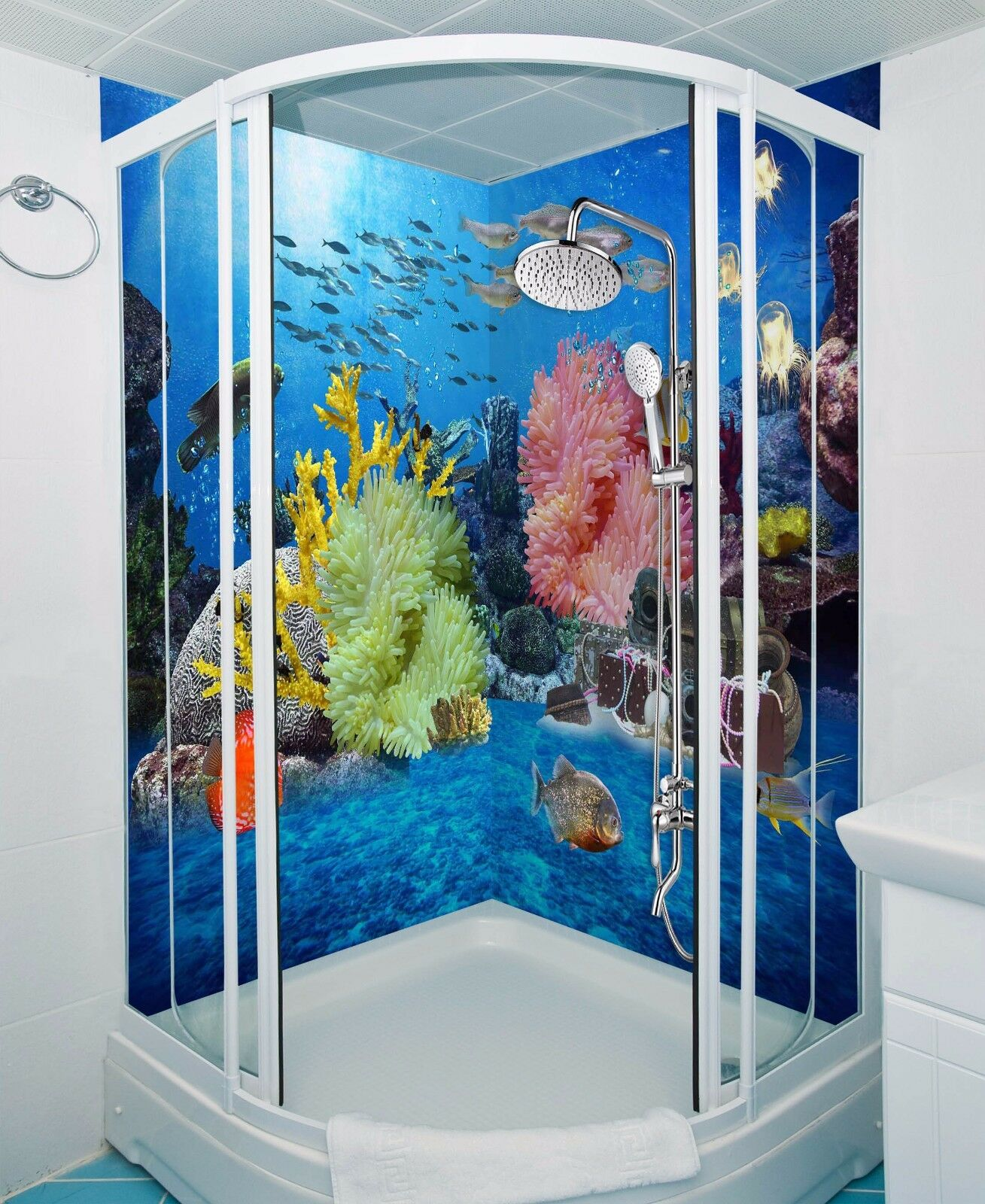 3D Seaweed fish 603 WallPaper Bathroom Print Decal Wall Deco AJ WALLPAPER UK