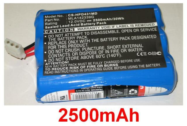 Batterie 2500mAh type MLA142339G Pour IVAC MEDICAL Systems 4000