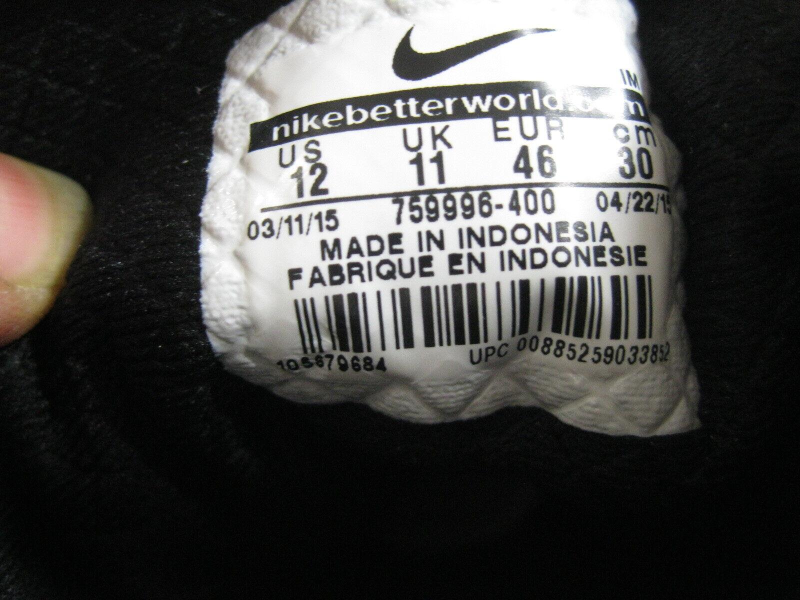 Nuovo Nike Uomo Medio Basket Blu Ossidiana / Vela Nero / Nero Vela 759996 400 Taglia 12 9d78d6