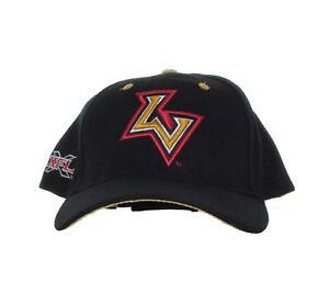XFL-Las-Vegas-Outlaws-Vintage-Team-Logo-and-XFL-Logo-on-Black-Adjustable-Hat