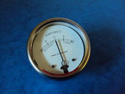 "AMMETER 2"" WHITE FACE CLASSIC BRITISH VINTAGE UK MADE"