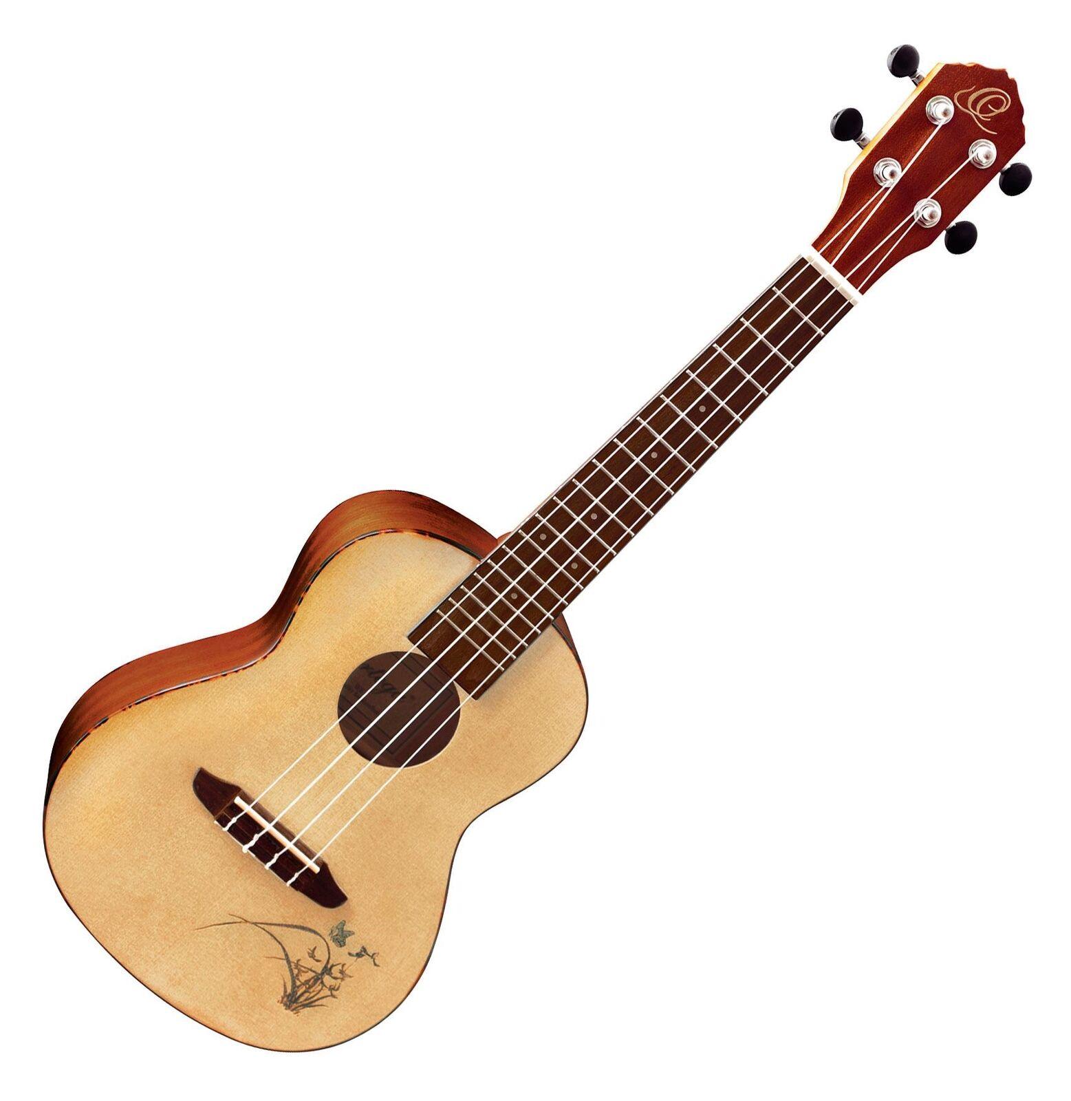 Wunderschöne Ortega Konzert Ukulele aus Sapele in Natur - Ideal für unterwegs